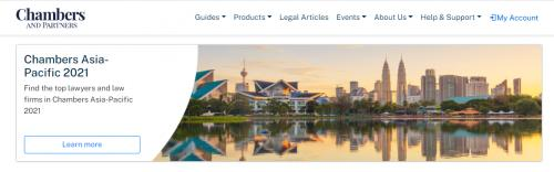 Chambers Asia-Pacific 2021 rankings published